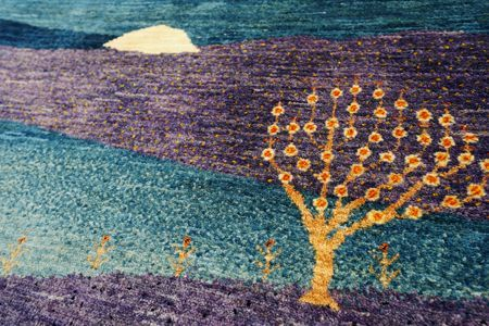 ゾランヴァリギャッベ紫のタペストリーザクロ