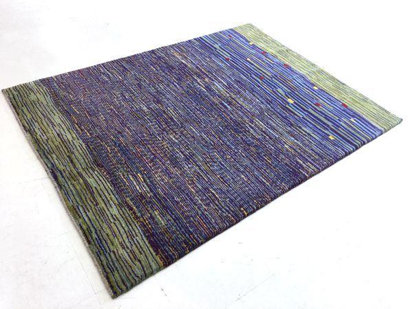 画像1: ゾランヴァリ遊牧民ギャッベ:アマレ リビング中(194×149) (1)
