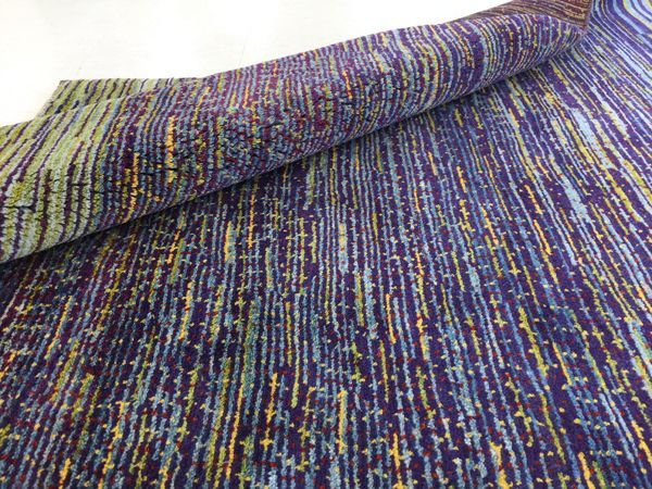 ギャッベ世界展示会ゾランヴァリ最新ギャッベ紫いろ