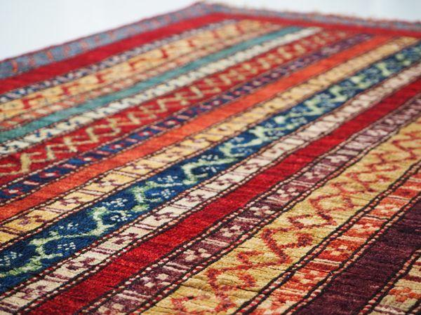 画像1: アフガンカーペット リビングサイズ小 (145×98)