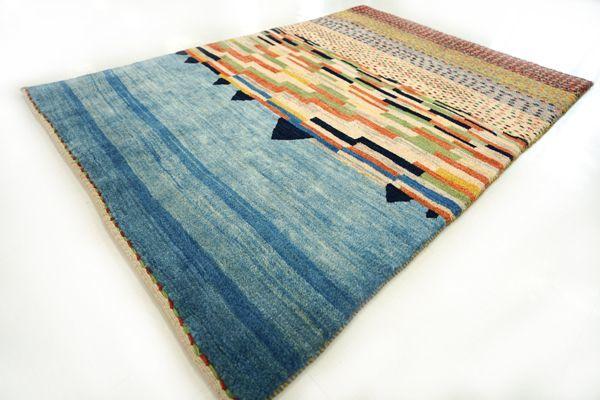 画像1: ゾランヴァリ遊牧民ギャッベ:カシュクリランドスケープ リビング小(144×100)
