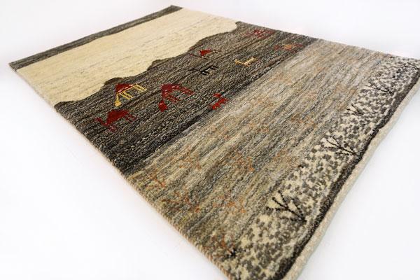 画像1: ゾランヴァリギャッベ:アマレランドスケープ ラグサイズ(116×82) (1)