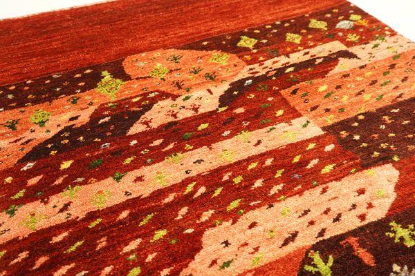 画像1: ゾランヴァリ遊牧民ギャッベ:アマレ ラグサイズ(122×83) (1)