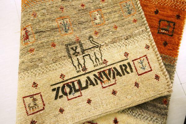 ゾランヴァリギャッベカラフルボーダー玄関マット