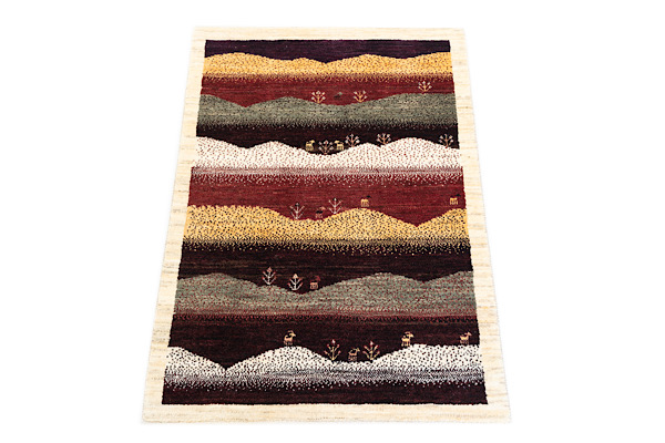 画像1: ゾランヴァリ遊牧民ギャッベ:カシュクリ ラグサイズ(116×81) (1)