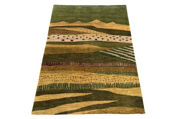 画像1: ゾランヴァリ遊牧民ギャッベ:カシュクリ リビング中(181×123) (1)