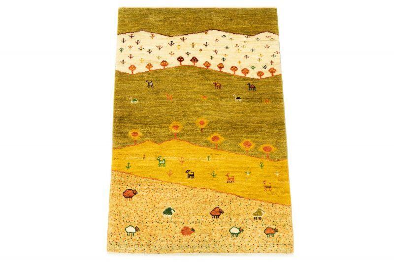 画像1: ゾランヴァリ遊牧民ギャッベ:アマレ ラグサイズ(130×83) (1)